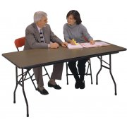 Plywood Rectangular Folding Table- Adj Height (96