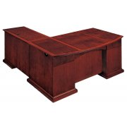 Del Mar Right L Office Desk with Bow Front