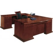 Del Mar Left U Office Desk with Bow Front