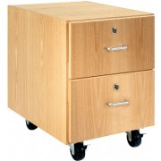 Wooden Mobile Pedestal with 2 Drawers (30