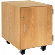 Wooden Mobile Pedestal with Right-Hinged Cabinet (24