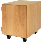 Wooden Mobile Pedestal with Left-Hinged Cabinet (24