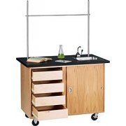Mobile Demo Table with Drawers (48