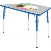 Edu Edge Trapezoid Activity Table with Ball Glides (48x24