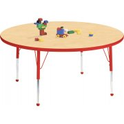 Educational Edge Round Activity Table with Ball Glides (36