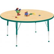 Educational Edge Round Activity Table with Ball Glides (42