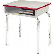 EE Adjustable Height Open Front School Desk - Poly Bookbox