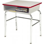EE Adj. Open Front School Desk - Poly Bookbox, U Brace