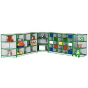 Color-Banded Full Corner Youth-Size Cubby Storage