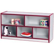 Color-Banded Preschool Classroom Cubbies