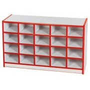 Color-Banded Preschool Cubby Storage - 20 Cubbies