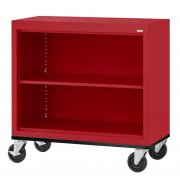 Educational Edge Steel Mobile Bookcase (3'Wx3'H)