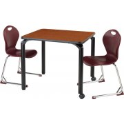 Elevate Series School Table with Casters (24x48