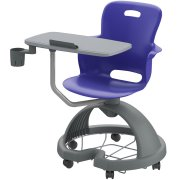 Ethos Mobile Student Chair Desk with Cup Holder