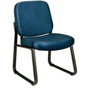 Richmond Reception Chair Armless in Vinyl