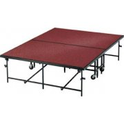 Carpeted Surface Mobile Stage (24