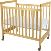 SafetyCraft Compact Fixed-Side Clearview Crib w/Mattress