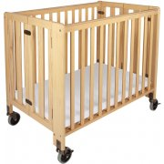 Hideaway Compact Folding Crib w/Mattress