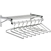 Value Wall-Mounted Coat Rack w/shelf&hangers-4ft