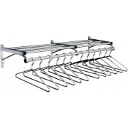 Value Wall-Mounted Coat Rack w/shelf&hangers-6'