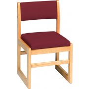 Sled-Base Library Chair Upholstered (15.5