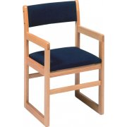 Sled-Base Library Arm Chair Upholstered (17.5