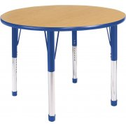 Hercules Adjustable Round Activity Table- Color Trim (42