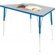 Prima Adjustable Trapezoid Activity Table (48x24