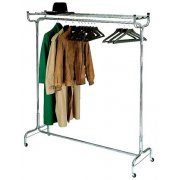 Portable Coat Rack with Hat Shelf and Hangers (3')