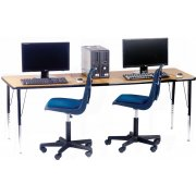 Academia Adjustable Rectangular Computer Table (48