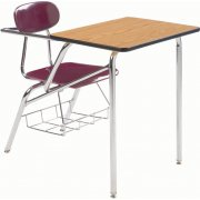Combo Student Chair Desk - Laminate, Support Brace, 19