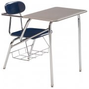 Combo Student Chair Desk - Hard Plastic, Support Brace, 19