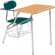 Combo Student Chair Desk - WoodStone Top, Support Brace (19