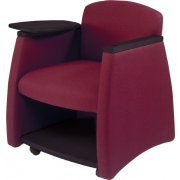 Arm Chair w/Black Finish & Storage Compartment