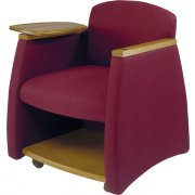 Arm Chair w/Wood Finish & Storage Compartment
