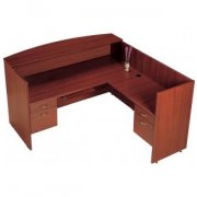 Right Reception Office Desk with Keyboard tray
