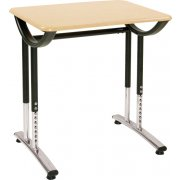 Illustration Classroom Desk with WoodStone Top