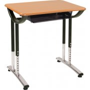 Illustration Classroom Desk with Bookbox and WoodStone Top