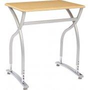 Illustrations V2 Adj. Height Classroom Desk - Hard Plastic