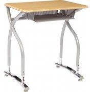 Illustrations V2 Adj. Height Open Front Desk - WoodStone