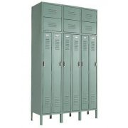 Two Person Locker in 3-Wide Frame