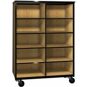 Cubby Storage Unit with 8 Adj Shelves & No Doors