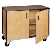 Low Storage Unit with 1 Adj Shelf & Doors