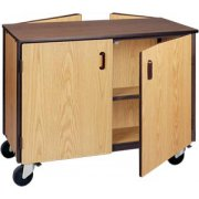 Low Double Faced Unit-1 Adj Shelf Per Side&Doors