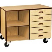 Storage Unit - 5 Drawers- 1 Adj. Shelf