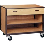 Mobile Office Storage - 1 Drawer, 1 Adjustable Shelf, 36