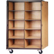 Cubby Storage Unit-10 Adj Shelves & Locking Doors