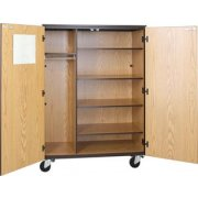 Wardrobe Storage- 4 Adj Shelves-Locking Doors