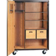 Mobile Wardrobe Storage Closet - 2 Shelves, 2 Drawers, 66