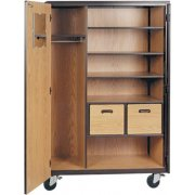 Mobile Wardrobe Storage Closet - 3 Shelves, 2 Drawers, 72